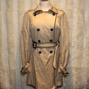 Express Tan Beige Rain Coat